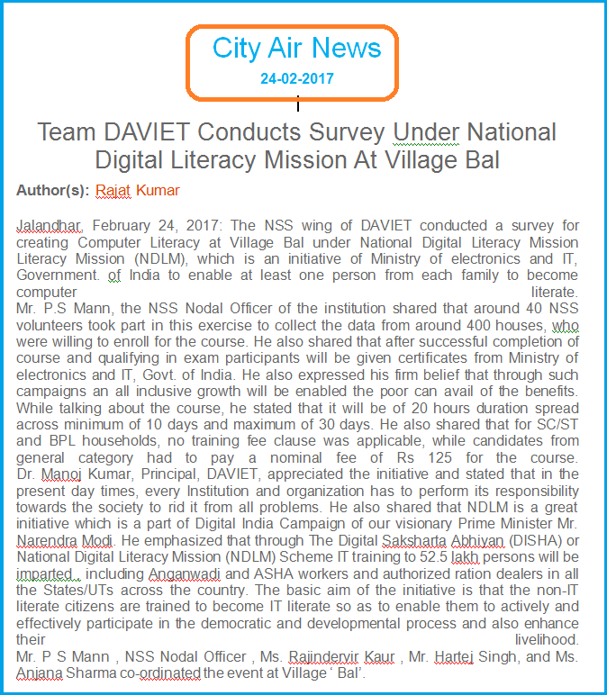 the national literacy mission programme The national literacy mission programme is an indian programme which aims to make 80 million adults in the age group of 15 – 35 literate over an eighty year period.
