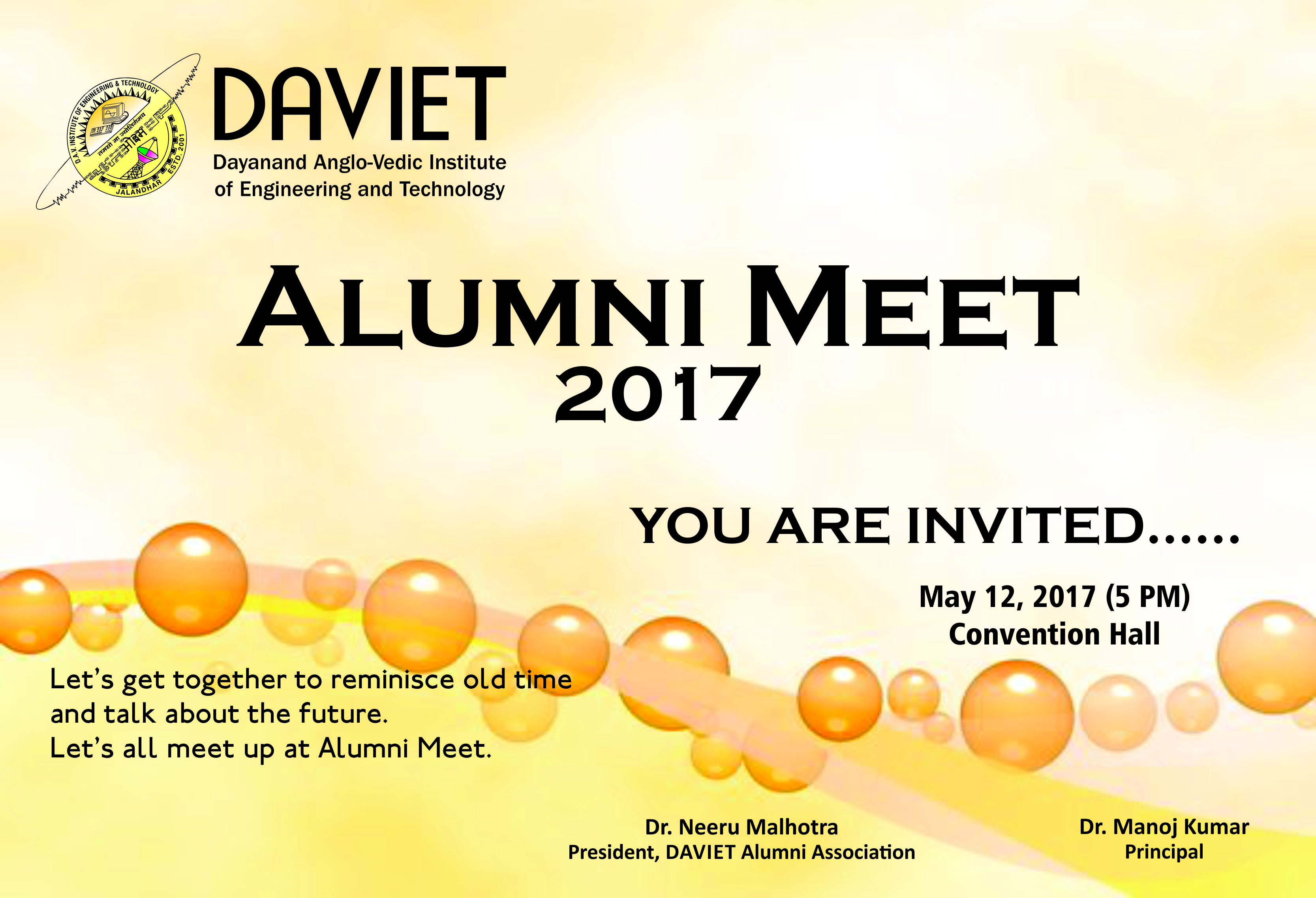 alumni meet invitation quotes