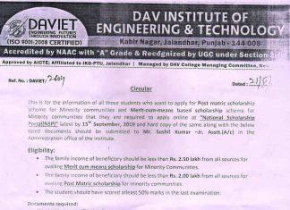 DAVIET - DAV Institute of Engineering and Technology